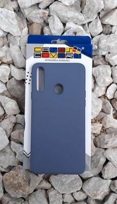 Case de silicona Samsung Galaxy A20S, Azul Cobalto Oscuro