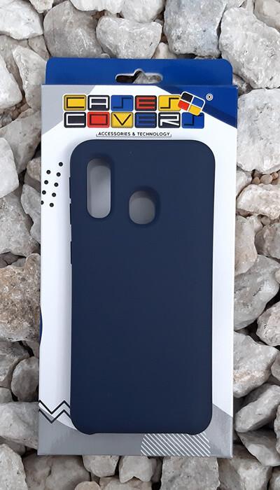 Case de silicona Samsung Galaxy A40, Color Azul