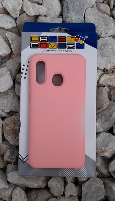 Case de silicona Samsung Galaxy A40, Color Rosa