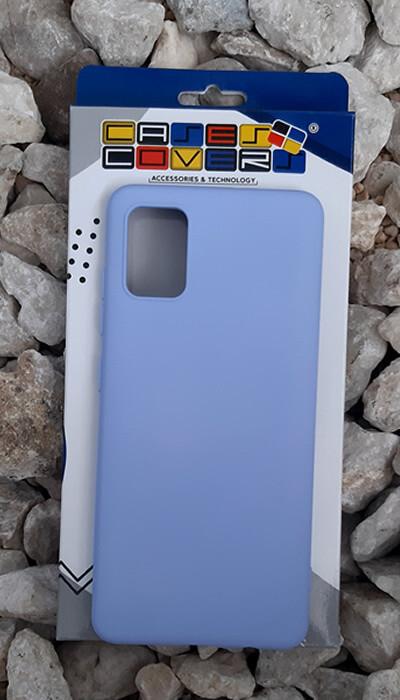 Case de silicona Samsung Galaxy A51, Lila