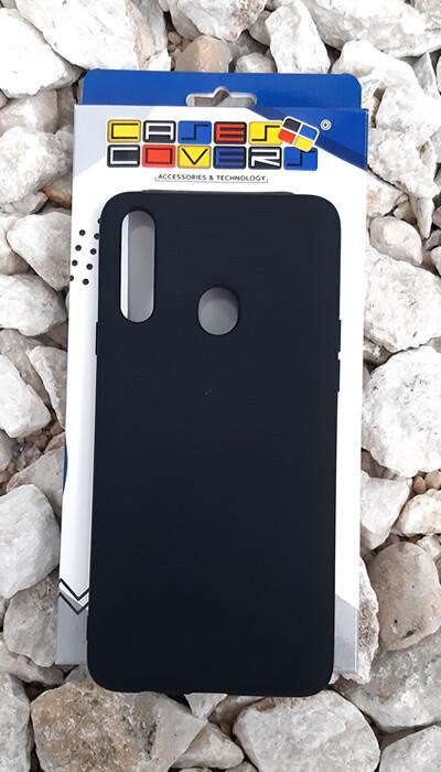 Case de silicona Samsung Galaxy A20S, Color Negro