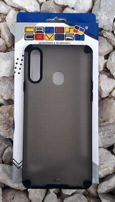 Case translúcido Samsung Galaxy A20S, Gris/Negro