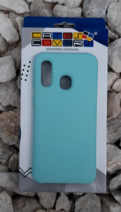 Case de silicona Samsung Galaxy A40, Verde Menta