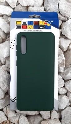 Case de silicona Samsung Galaxy A50, Verde Militar