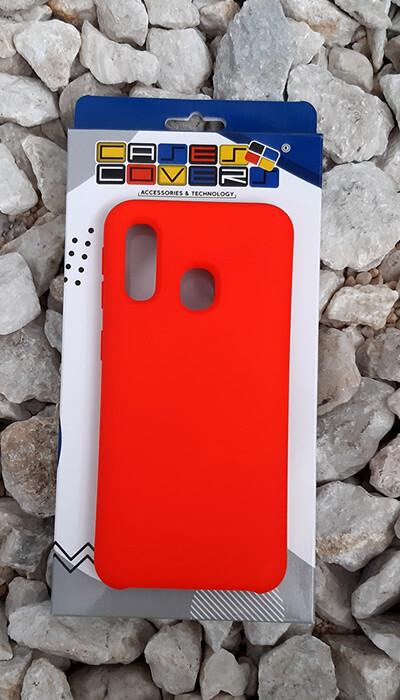 Case de silicona Samsung Galaxy A40, Color Rojo