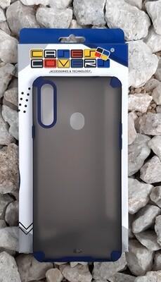 Case translúcido Samsung Galaxy A20S, Gris/Azul