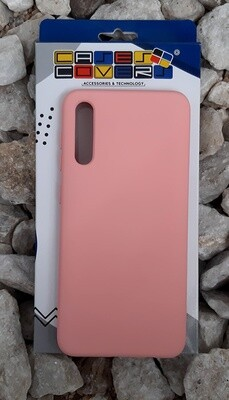 Case de silicona Samsung Galaxy A50, Color Rosado