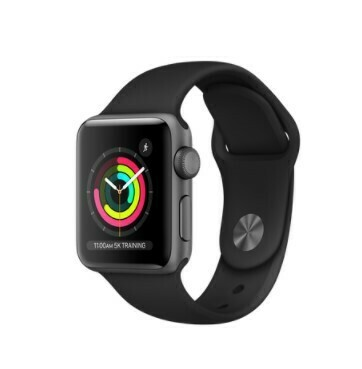Apple Watch Series 3 - 38 mm, Color Negro