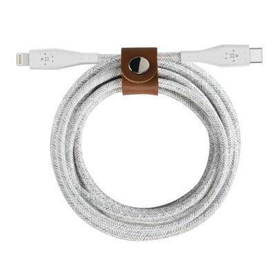 Cable Belkin USB-C ™ con conector Lightning + correa, Blanco