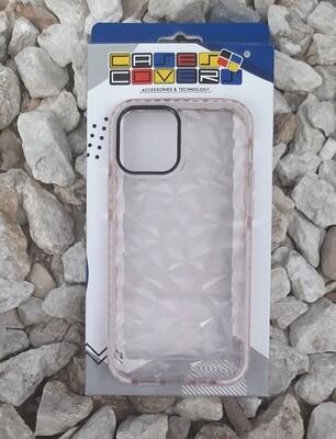 Case de Silicona para IPhone12 / Pro, Transparente/Rosa