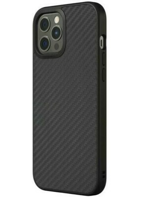 Case RhinoShield Solidsuit  para iPhone 12 Pro Max, Fibra de Carbono