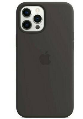 Case de Silicona iPhone 12 Pro Max, Negro