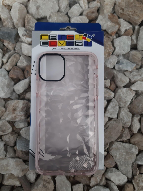 Case de silicona para iPhone11 Pro Max, Transparente/Rosa