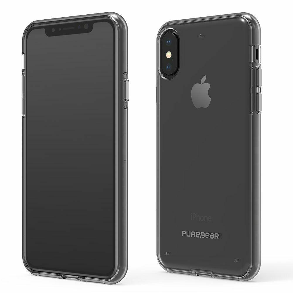 Case PureGear DualTek para iPhone XS y X, Transparente