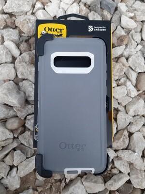 OtterBox Defender Series Samsung Galaxy S10+, Color Gris/Blanco