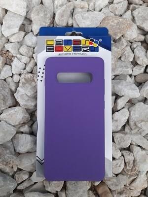 Case de silicona Samsung Galaxy S10+, Color Lila