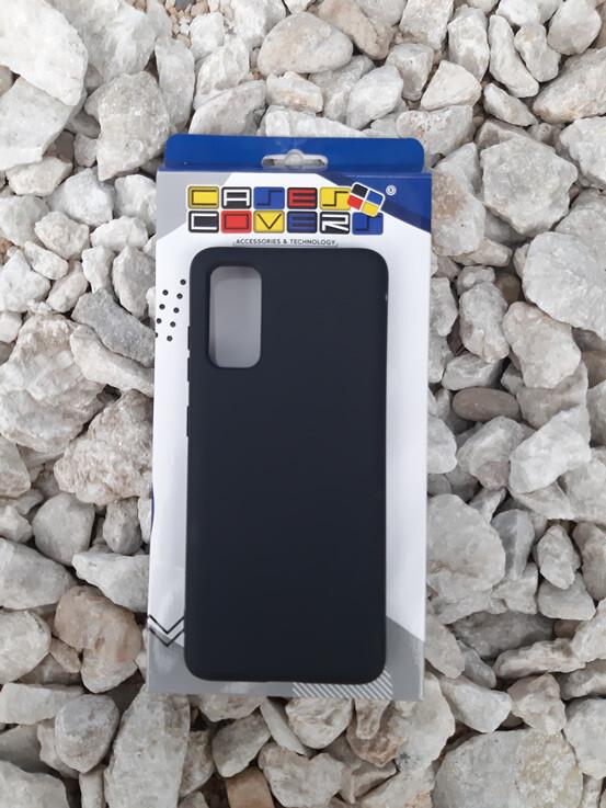 Case de silicona Samsung Galaxy S20, Negro