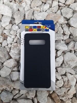 Case de silicona Samsung Galaxy S10+, Color Negro