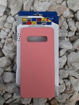 Case de silicona Samsung Galaxy S10+, Color Rosa