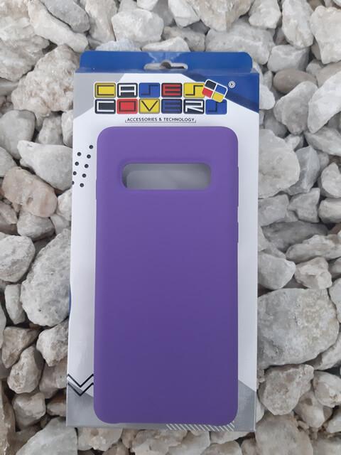Case de Silicona Samsung Galaxy S10 - Color Violeta