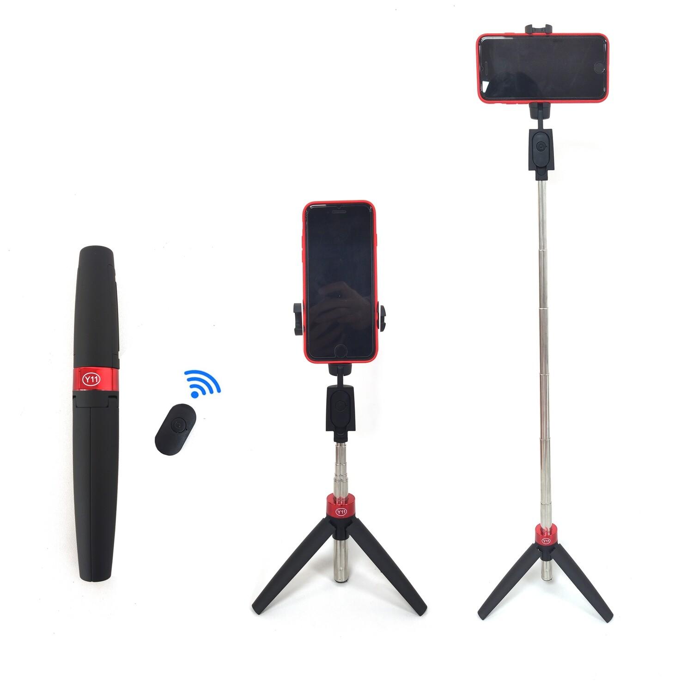 Selfie Stick Y11, Inalámbrico con control remoto 360°