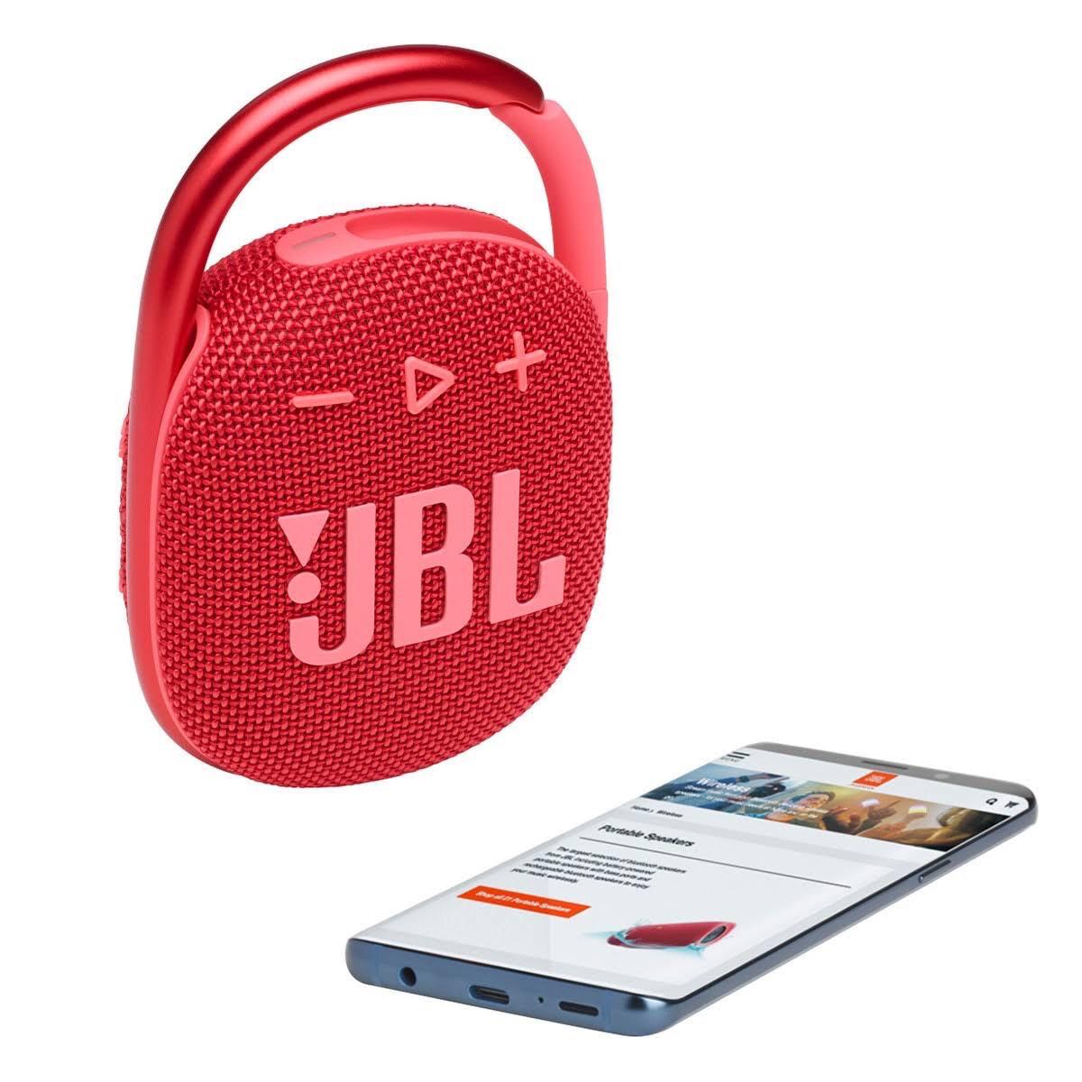 Parlante Jbl Clip 4 Bluetooth 10 Horas De Batería 5W Red