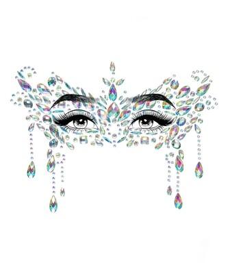 masquerade adhesive face clear