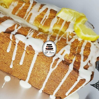 Lemon Pound Cake large loaf drizzled with glaze