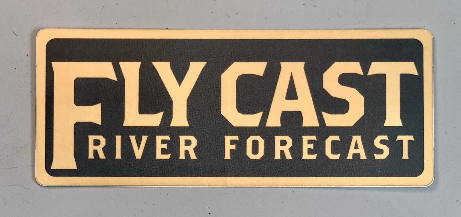FlyCast Sticker - Text Logo (slate green/yellow)