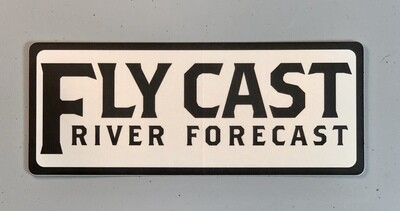 FlyCast Sticker - Text Logo (black/white)