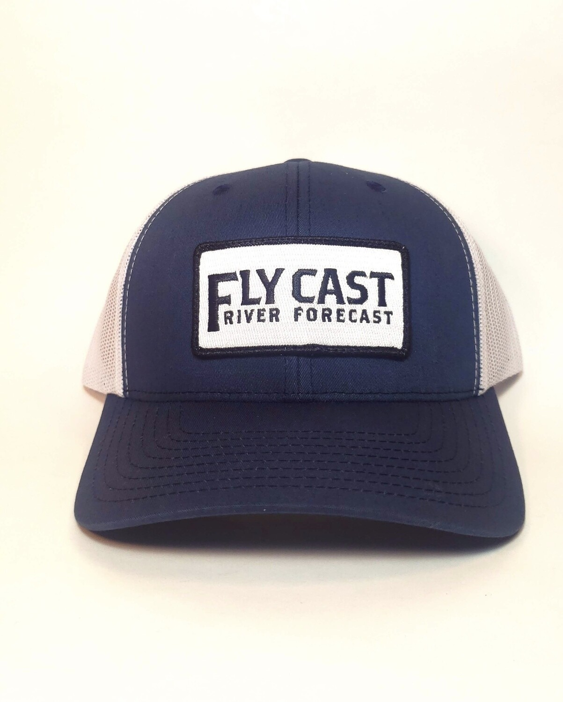 FlyCast Text Logo - Navy/White