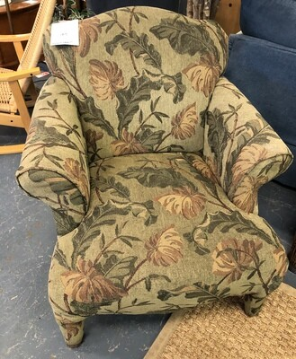 Green Tropical Accent Chair