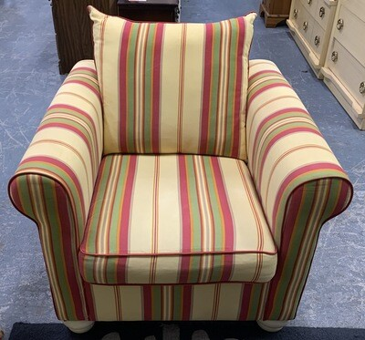 Yellow Stripe Accent Chair