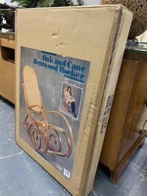 *New in Box* Oak and Cane Rocker