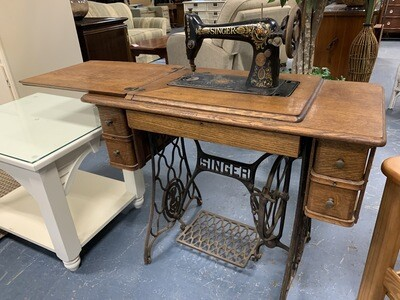 Antique SINGER Sewing Machine Station