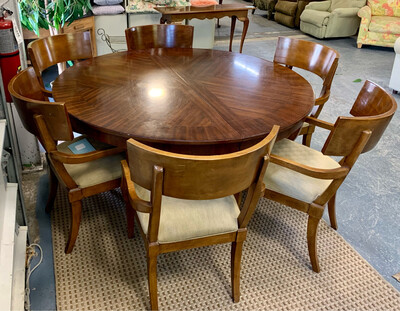 Dining Table & Six Chairs by Bernhardt