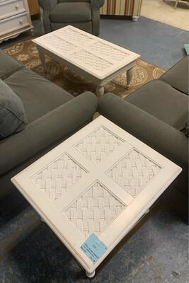 Basketweave Living Room Table Set