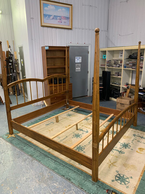 Rattan King Bed