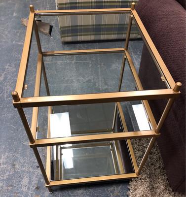 Novella Gold Metal Accent Table