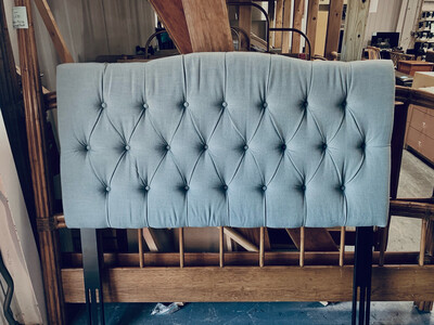 Full Tufted Linen Headboard *NEW*