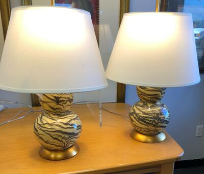 Safavieh Color Swirl Gourd Lamp Pair *NEW*