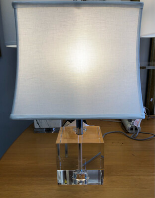 Lucite Cube Lamp *NEW*