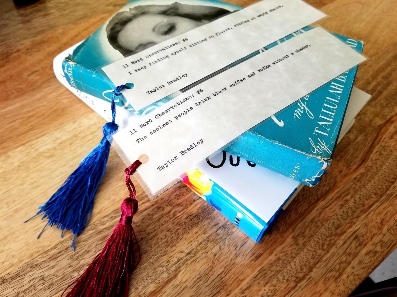 Typewriter Bookmarks
