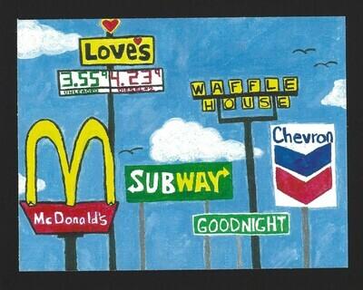 """Goodnight, Texas"" Print"