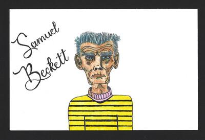 """Samuel Beckett"" Print - Dead Authors Collection"