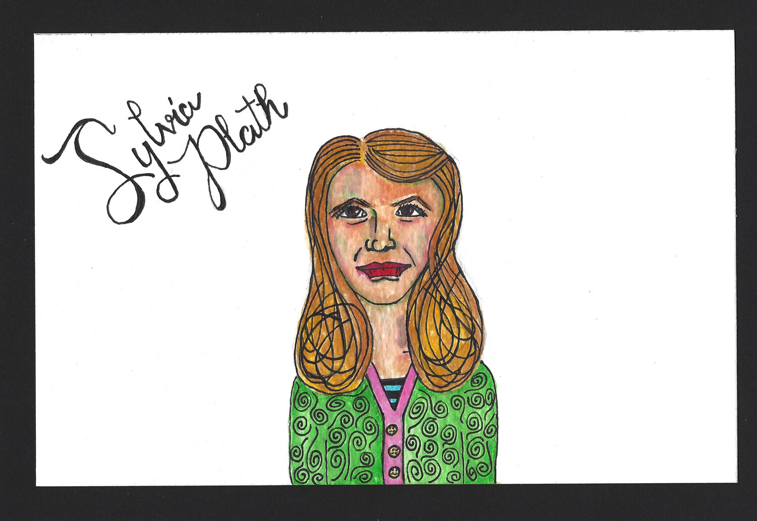 """Sylvia Plath"" Print - Dead Authors Collection"