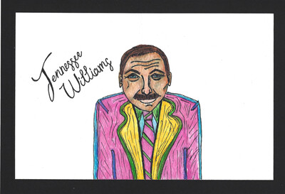 """Tennessee Williams"" Print - Dead Authors Collection"