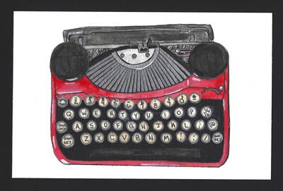 """1920s Underwood Typewriter"" Print"