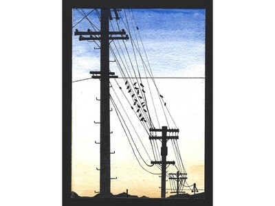 """Glendale Silhouette"" Print"