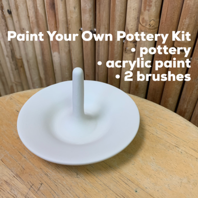 NO FIRE Paint Your Own Pottery Kit -  Ceramic Ring Holder Acrylic Painting Kit